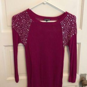 Bright pink express sweater xs